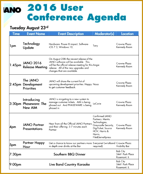 5 Sample Agenda for Conference FabTemplatez