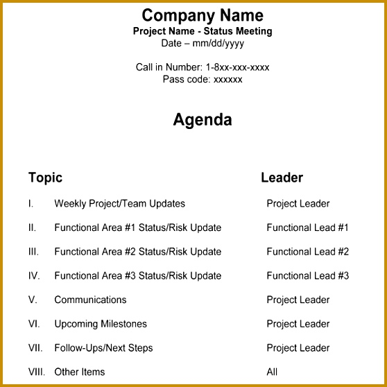 Meeting Program Sample - Fiveoutsiders