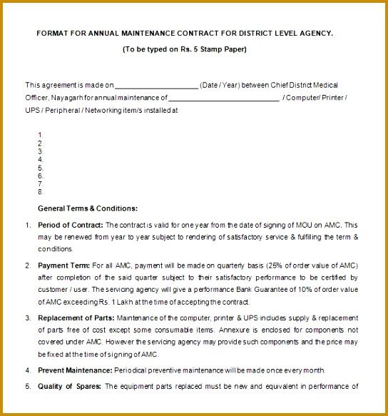 7 Sample Amc Contract FabTemplatez