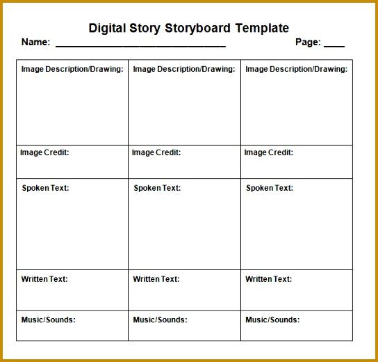 5 Sample Video Storyboard FabTemplatez - sample video storyboard template