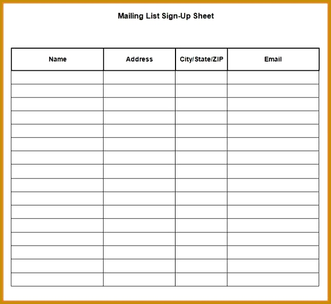5 Seminar Sign Up Sheet Template FabTemplatez
