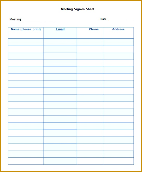 Meeting Sign In Sheet Templates kicksneakers - sample seminar sign in sheet