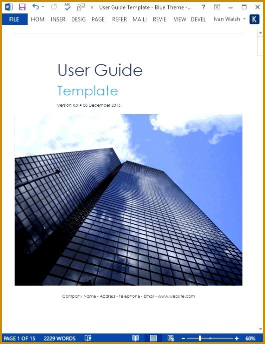 5 Site Instruction Book format FabTemplatez - free user guide template