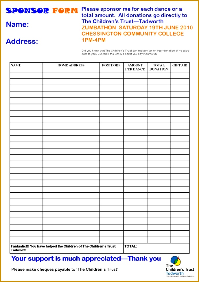 Sponser Form Template Image collections - Template Design Ideas - how to make a sponsor form