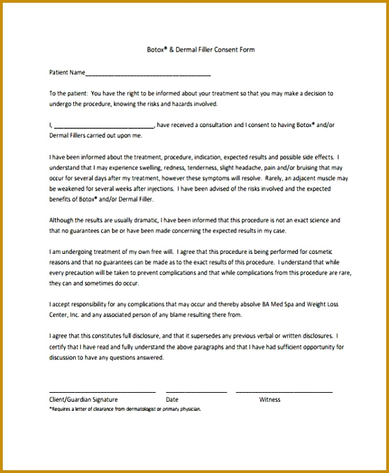 6 Tattoo Consent form Template FabTemplatez