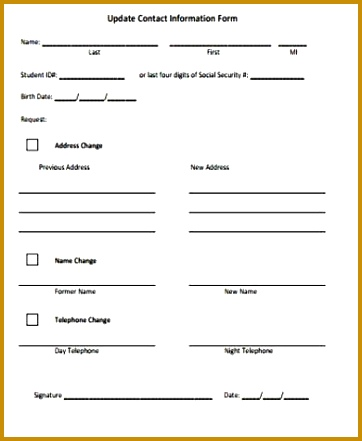 Tenant Information Sheet Template Gallery - Template Design Ideas - Tenant Information Form