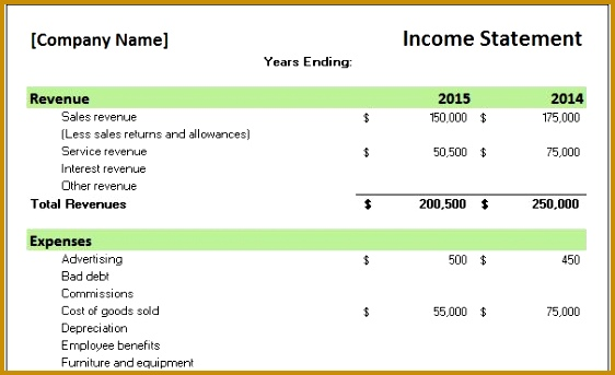 5 Yearly Financial Statement Template FabTemplatez