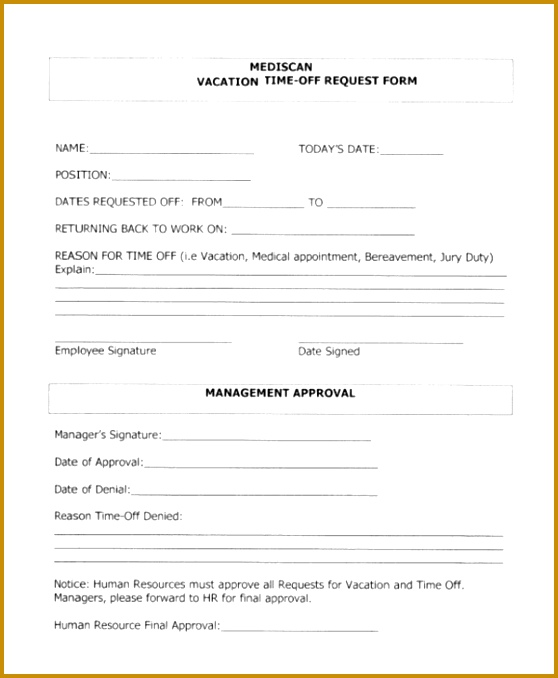 Free Time Off Request Form cvfreepro