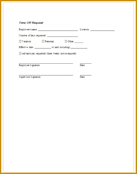 employee time off request form template - Pinephandshakeapp - time off request forms