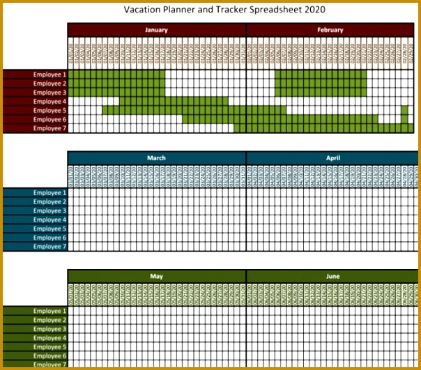 employee vacation tracker template