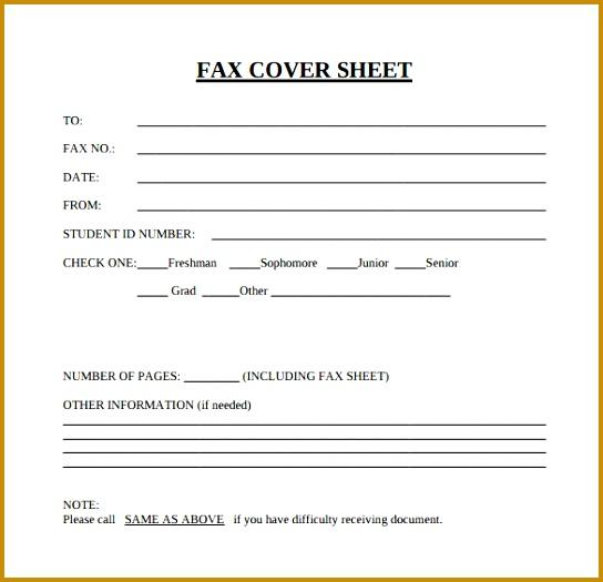 5 Fax Cover Sheet Template FabTemplatez