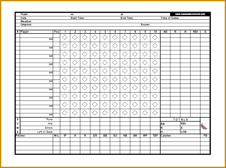 Download A Free Baseball Roster Template For Excel Featuring A