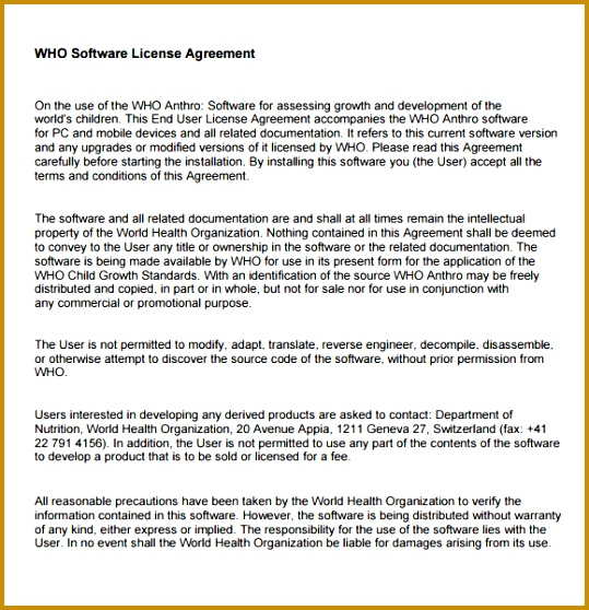 3 software License Agreement Template FabTemplatez - sample software license agreement