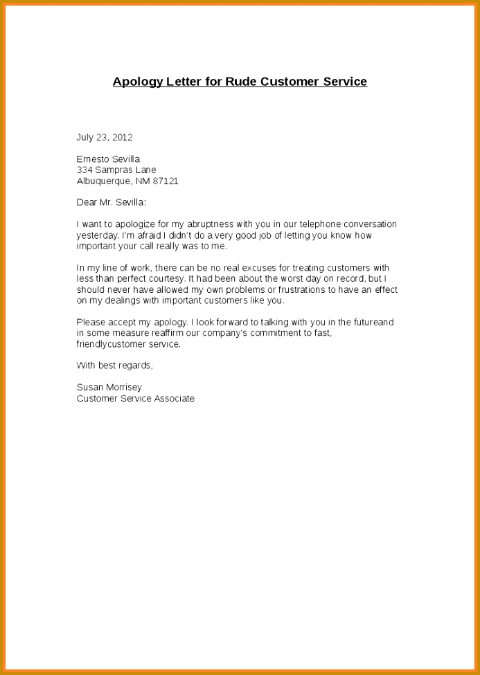 company apology letter apology letter format for business best of