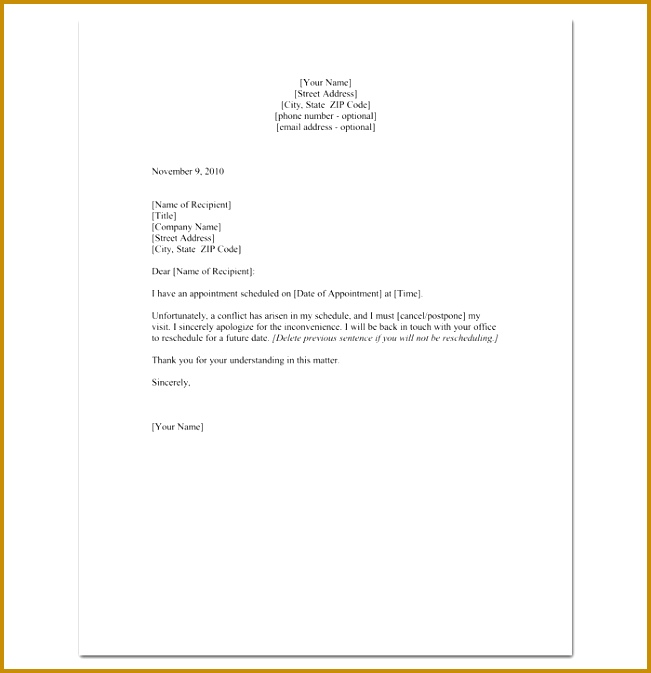 Apology Letter Reschedule Interview Sample 99982 Reschedule