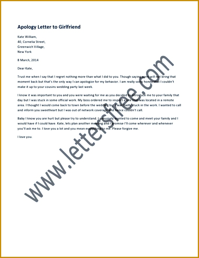 Apology Letter To A Friend Sample 47553 Apology Letter To A Friend