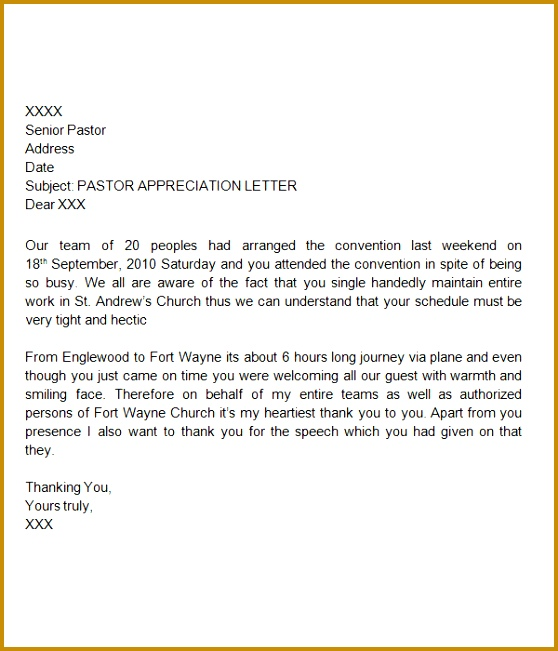 Product Sponsorship Thank You Letter Template Formal Appreciation