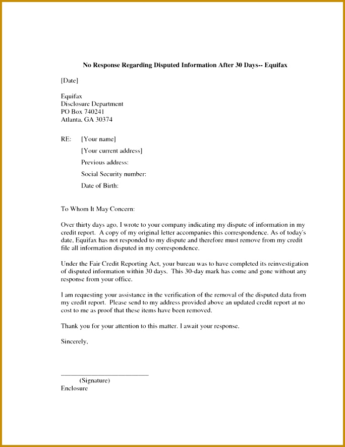 7 Letter to Credit Bureau to Remove Paid Debt FabTemplatez