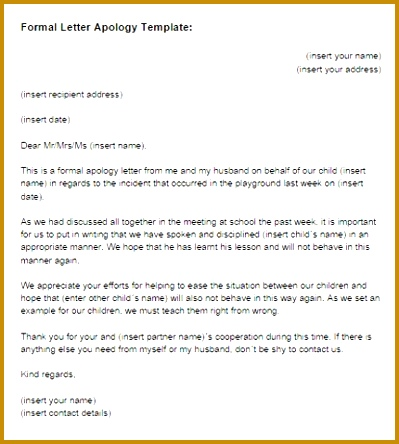 7 Writing A Personal Apology Letter FabTemplatez