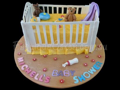 Baby Cot Birthday Cake