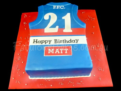Sport Shirt Birthday Cake