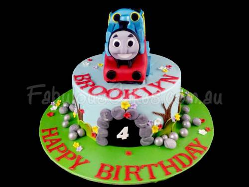 Thomas the Train Birthday Cake