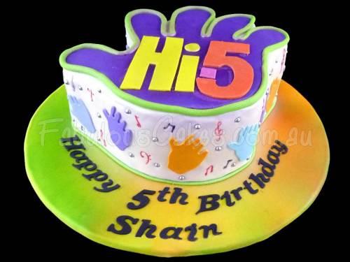 Hi5 Birthday Cake