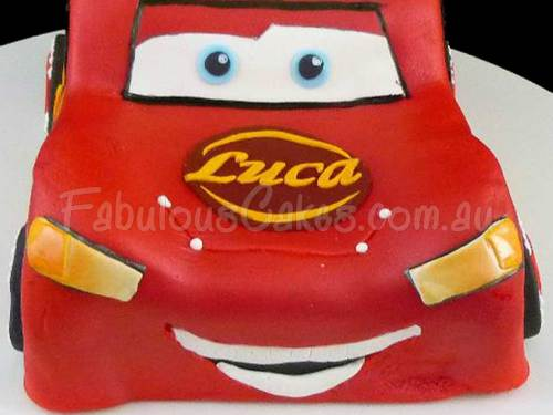 Lightning Mcqueen Birthday Cake