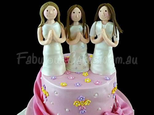 Pink Communion Cake