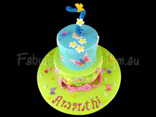 Whimsical 7th Birthday Cake