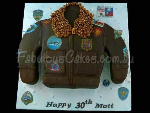Gun Bomber Jacket Birthday Cake