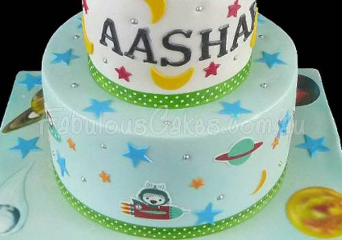 Space Themed Birthday Cake