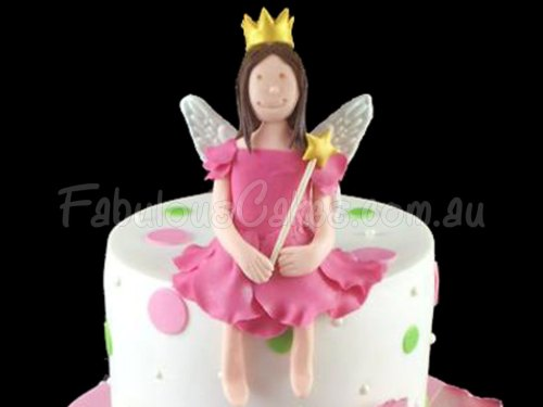 Pink Fairy Birthday Cake