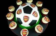 Soccer Ball Cake & Cupcakes