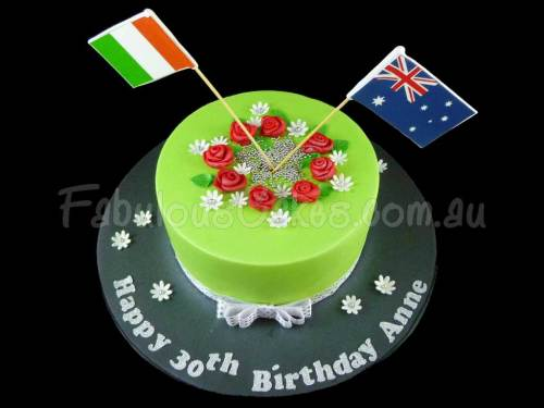 Cake with Country Flags