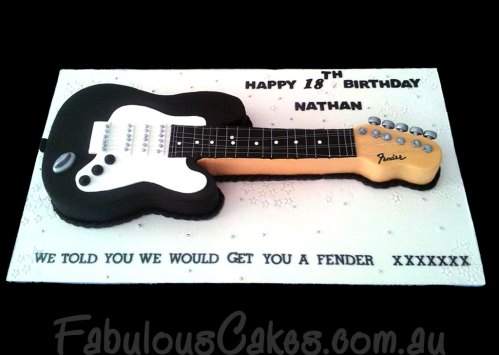 Guitar Themed Cakes