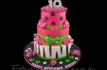 Hot Pink and Animal Print Cakes