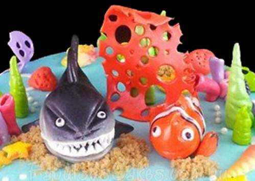 Nemo and Shark Cake