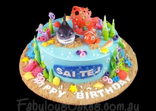 Nemo and Shark Cake