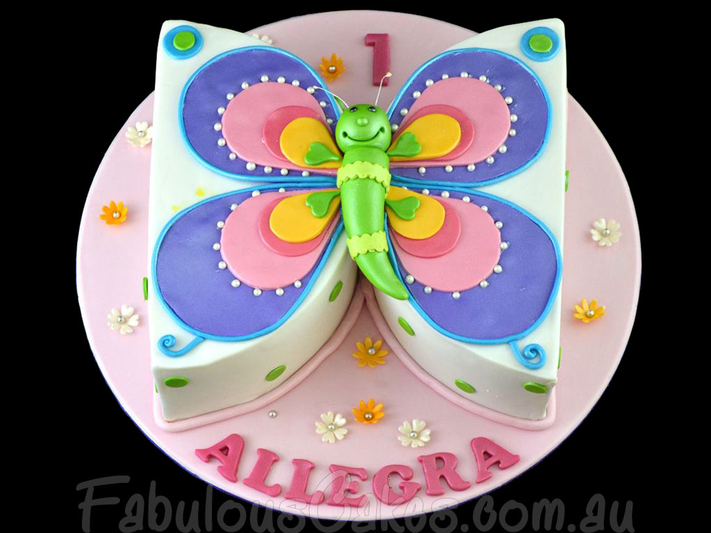 Butterfly Birthday Cakes For Girls