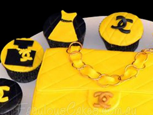 Channel Hang Bag and Cupcakes
