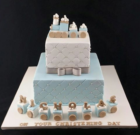 Christening Cake for a Boy