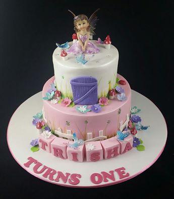 Garden fairy theme cake 1