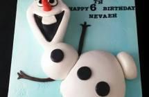 Olaf the Snowman Cakes