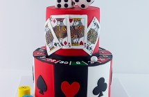 Casino Themed 40th Birthday Cake
