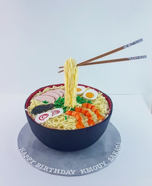 Ramen Noodle Bowl Cake