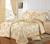 CREAM GOLD COLOUR STYLISH FLORAL JACQUARD LUXURY ...
