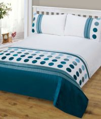 TEAL BLUE MIX COLOUR STYLISH MODERN DESIGN BEDDING QUALITY ...