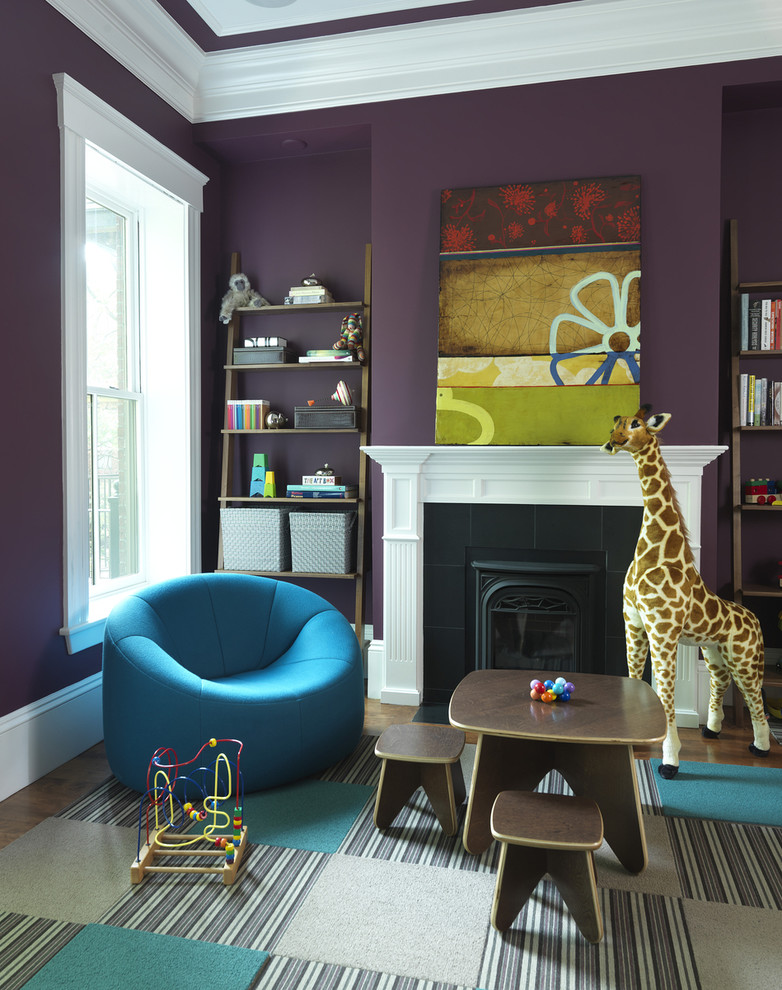 10 Purple Modern Living Room Decorating Ideas