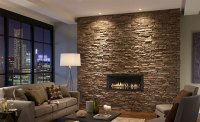 Attractive stone fireplace ideas